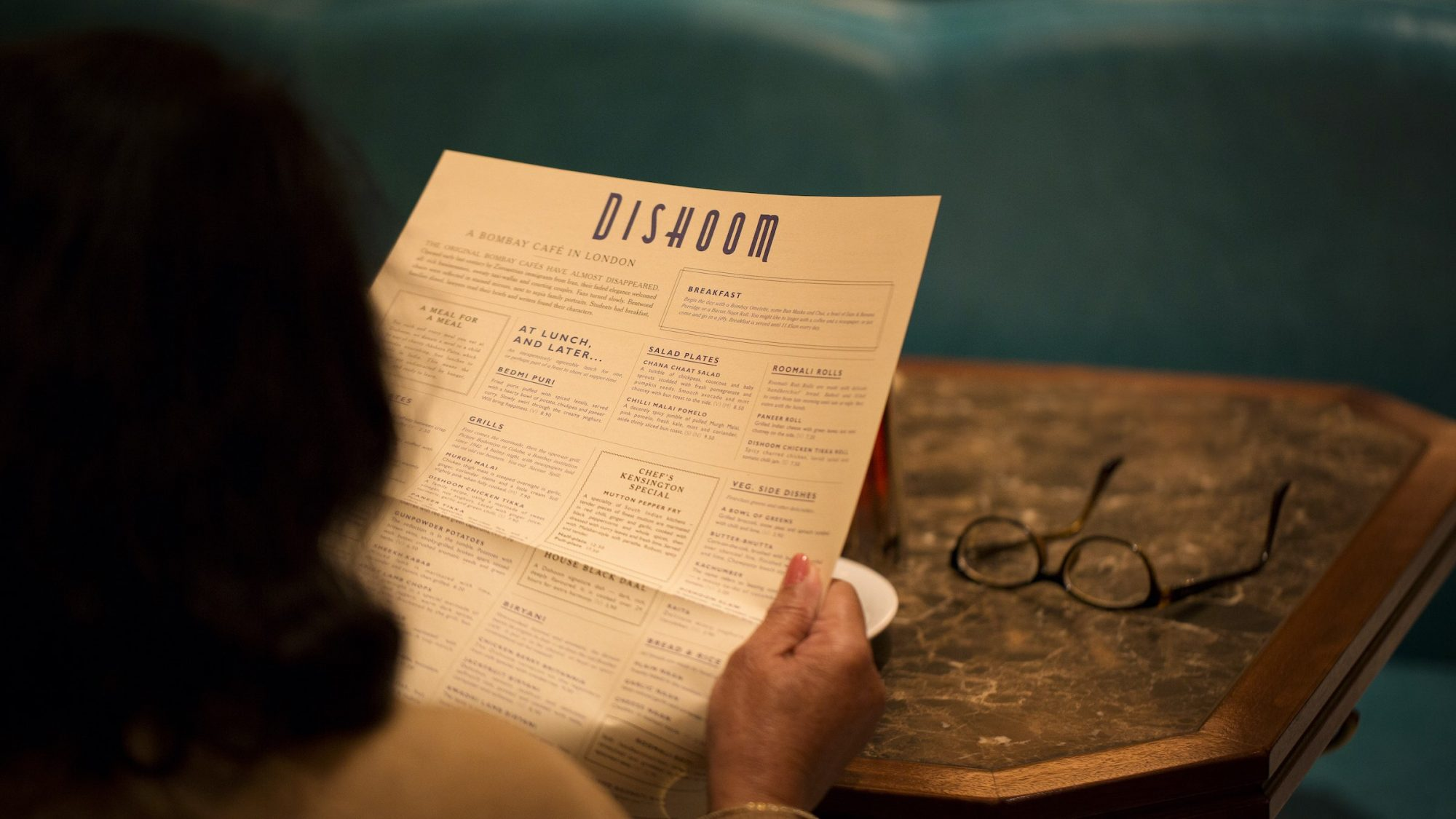 Reading the Dishoom menu