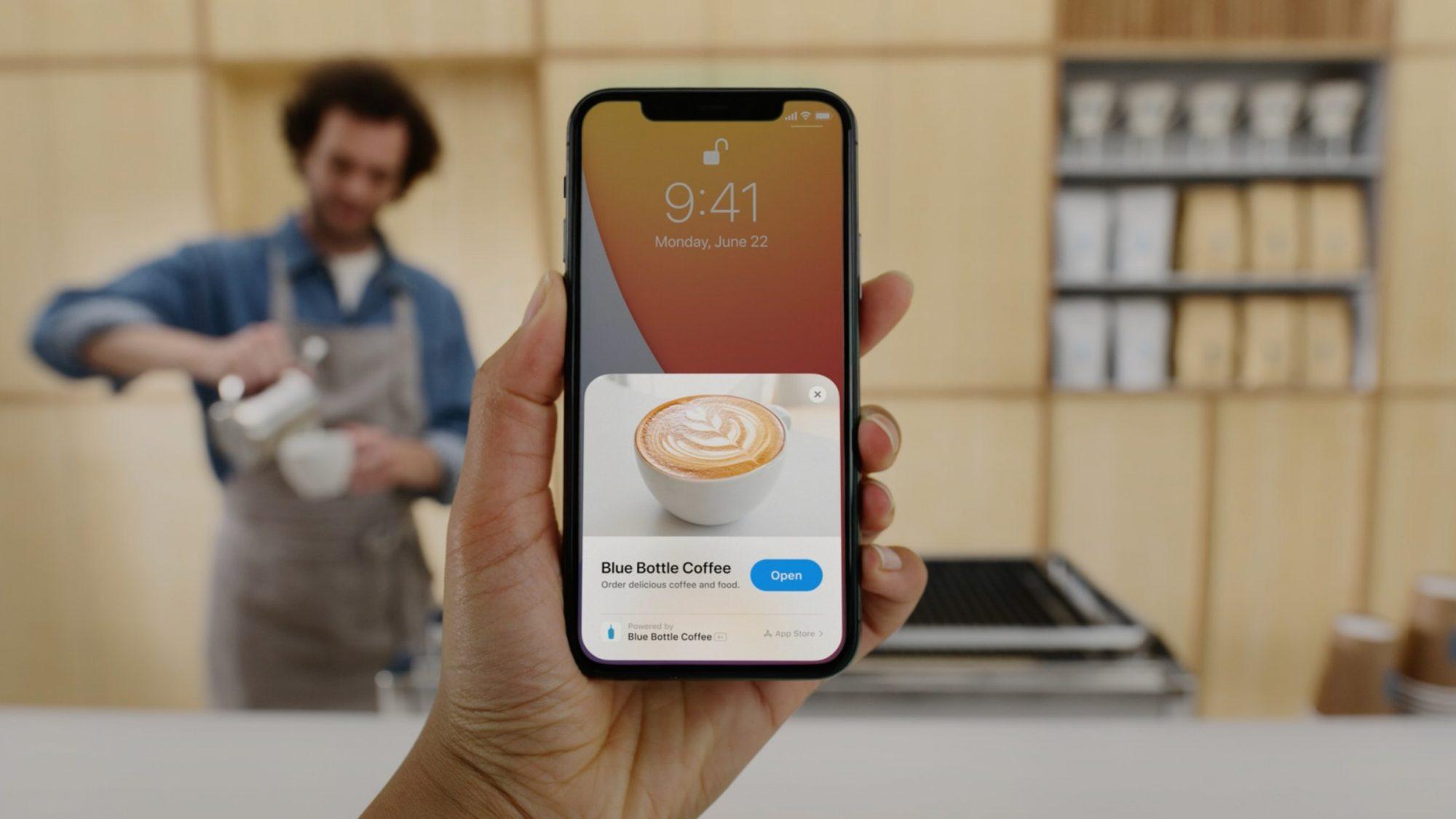 Apple WWDC App Clip Blue Bottle Coffee