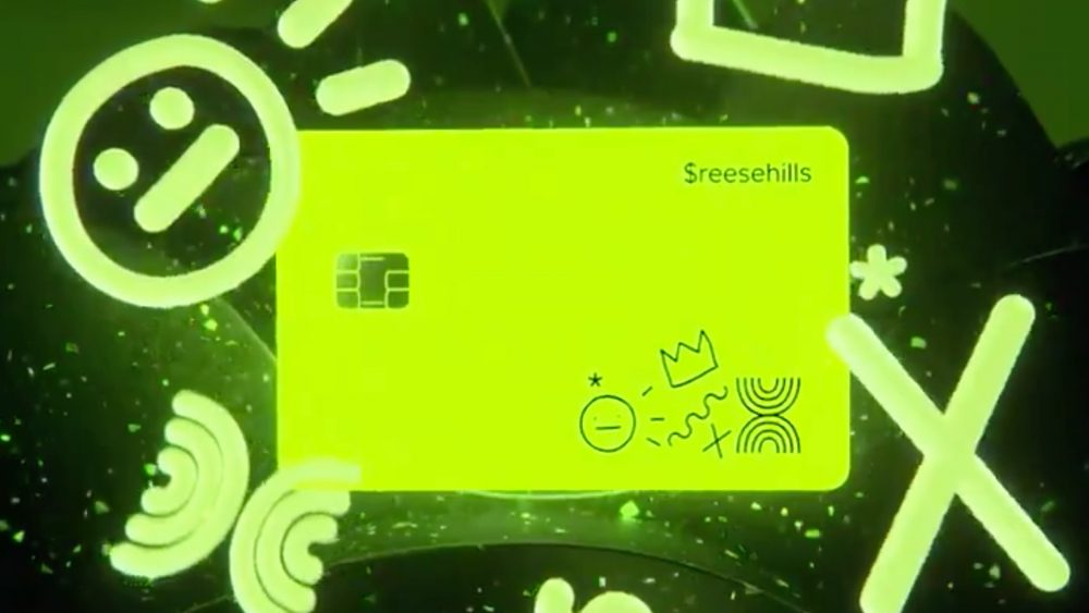 Square glow in the dark Cash Card