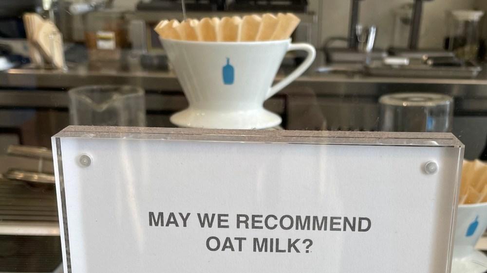 Blue Bottle oat milk